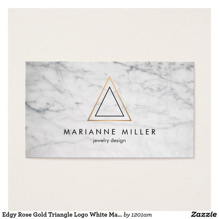 22 best geometric business cards images on pinterest 1st grades edgy rose gold triangle logo white marble business card reheart Gallery