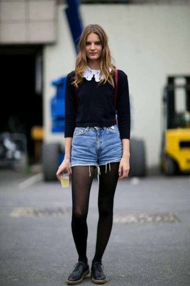 Moda años 90 para mujer: Vuelve el estilo - Shorts vaqueros talle alto