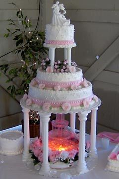 Modern Wedding Ideas And Decoration: Water Fountain Wedding Cakes Gallery model