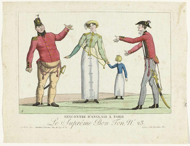 Le Suprême Bon Ton, 1800-1815, No. 23: Rencontre d'anglais à Paris, anonymous, 1800 - 1815