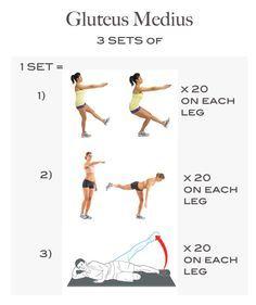 gluteus medius strengthening exercises - Google Search