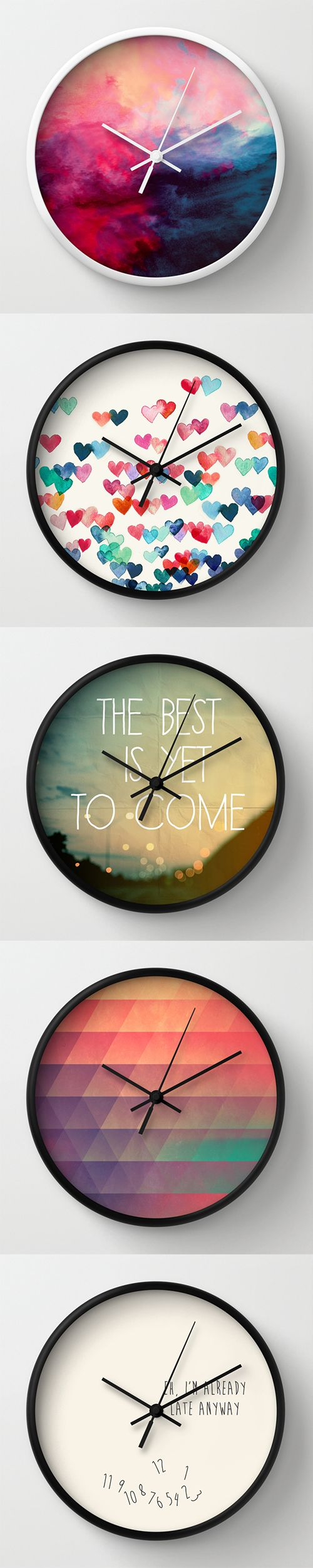 Wall Clocks and millions of other products available atSociety6.com today. Every purchase supports independent art and the artist that created it.  Need More Wall Art Ideas? Visit Centophobe.com (Never an Empty Room)