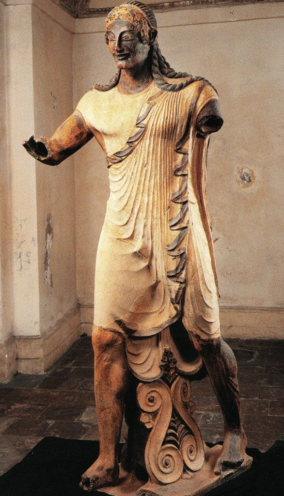 The Apollo made by the Etruscan artist Vulca to decorate the Temple in Veii