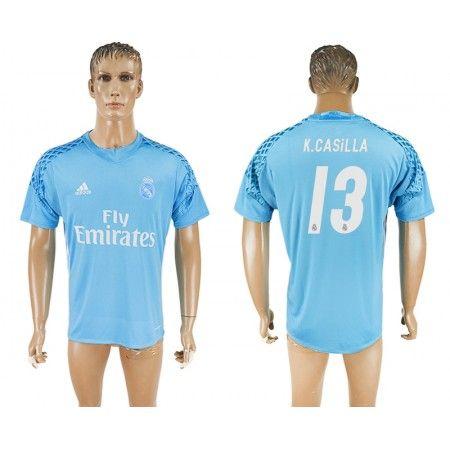 Real Madrid 16-17 #K.Casilla 13 målmand Trøje Kort ærmer,208,58KR,shirtshopservice@gmail.com