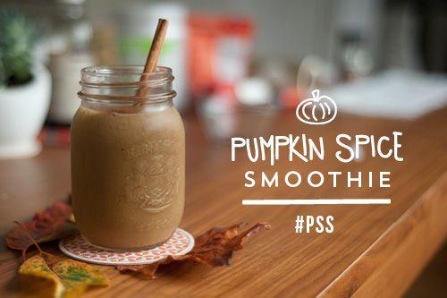 Post Run Pumpkin Pie Spice Protein Smoothie via lululemon #healthy #fitness #fall