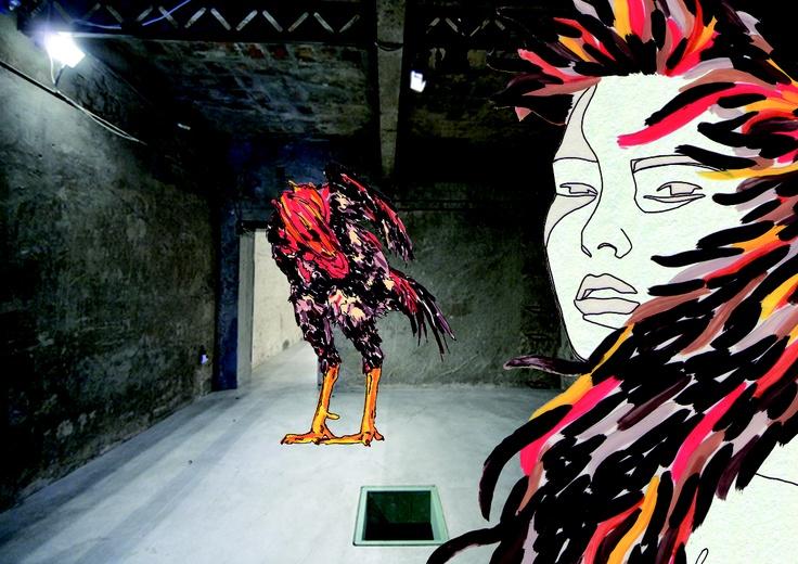 Illustrazione tecnica mista (disegno a mano libera, colorazione in acrilico su acetato, rendering in digitale)_ (QUICK CHICK, Visto su Vogue Talents N.3 September 2011