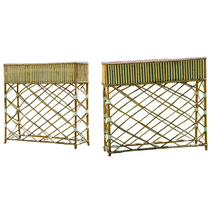 Unusual Planters For Sale Part - 25: Pair Of 1960s Bamboo Planters