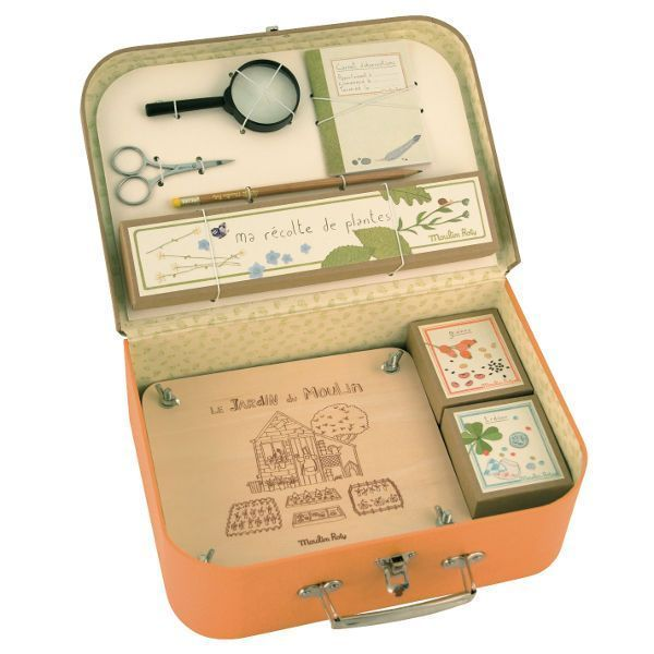 I can't say how much I would have loved this as a kid. Great for budding naturalists...BOTANIST CASE BY MOULIN ROTY  $72.00