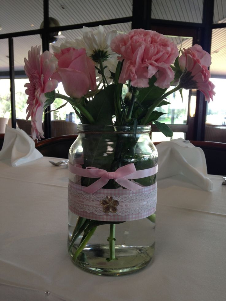 Baby Shower hand decorated jar. Made by Chrissy @ Sassy Creative Design