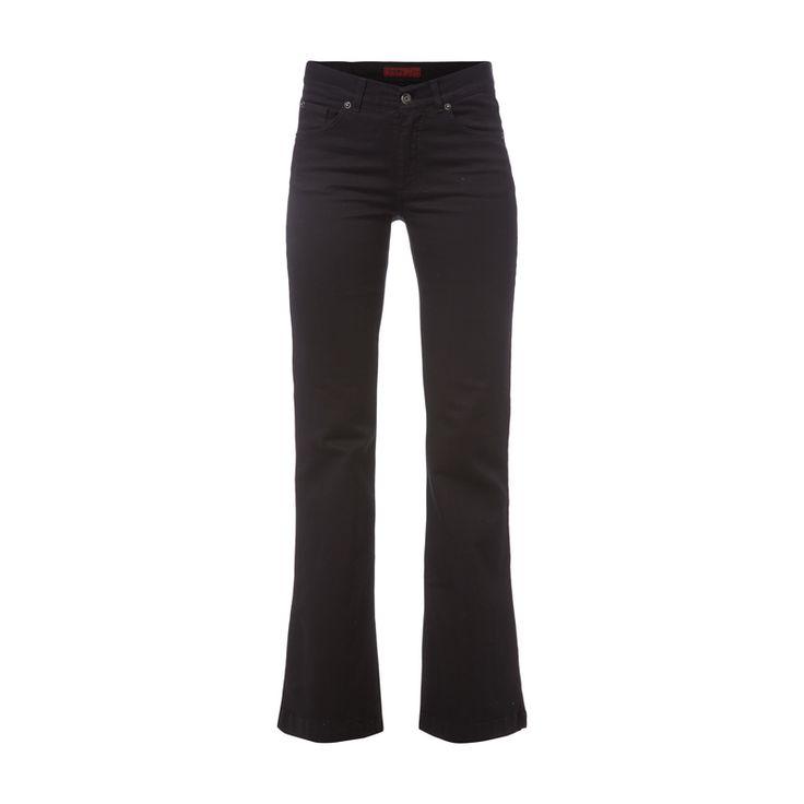 Angels Coloured Flared Cut Jeans für Damen - Damen 5-Pocket-Jeans von Angels, Baumwollmischung, Modell Flair, Coloured Denim, Flared Cut, Knopf- und Reißverschluss, Label-Patch, Innenbeinlänge bei Größe 36/31: 80 cm, Bundweite bei Größe 36/31: 74 cm