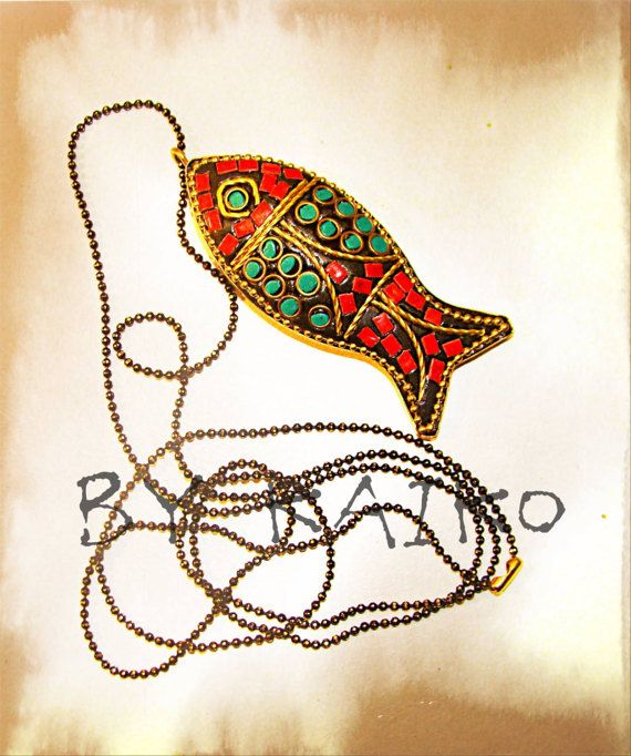 Fish pendant Stainless Steel Chain long necklace women gift Colorful necklace luckyfish  #stylishwoman #longnecklace #womenaccesorie #GiftForHer #fashionista #style #handmade #boho #elegance #luckyfish
