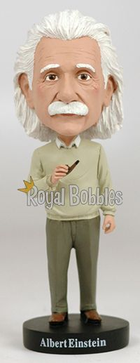 This premium Albert Einstein #bobblehead, only available from #RoyalBobbles, is an officially licensed and very high quality model.