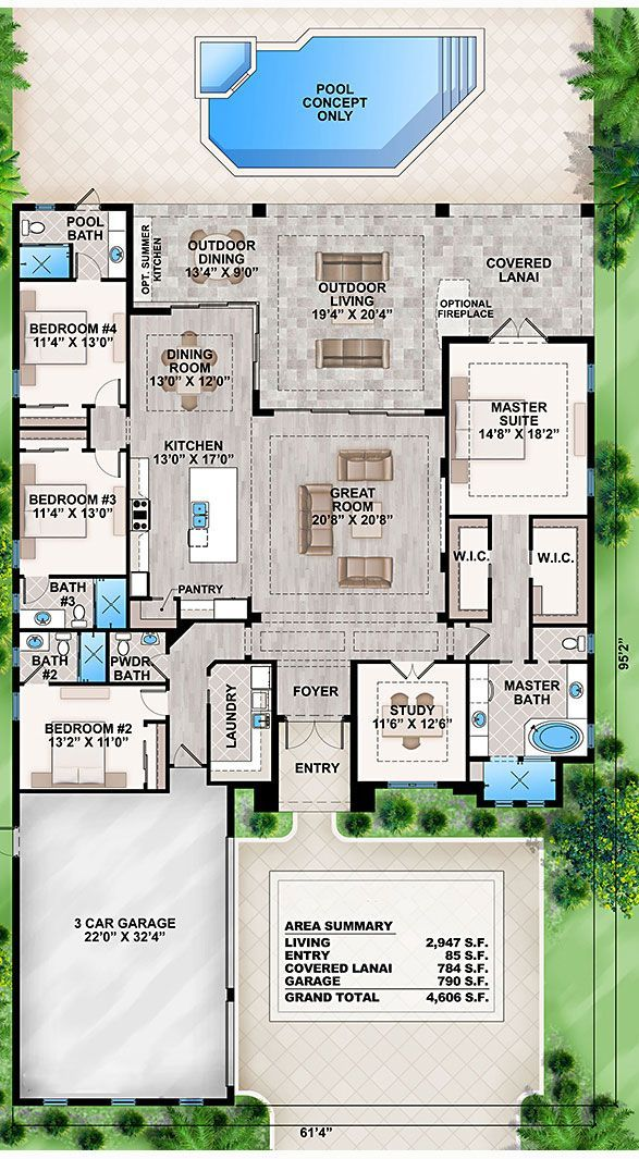 Coastal Home Plans Crestview Lake 1708