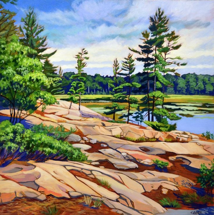Opeongo Reflections by Anna Clarey, Acrylic on Canvas, Painting | Koyman Galleries