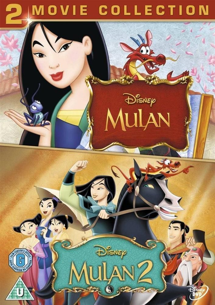 Discounted: Mulan / Mulan 2 (DVD, 2012) As New Disney Animated Family Double Feature #movies