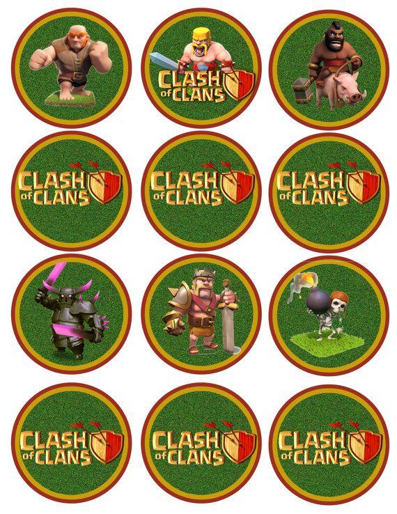 Instant download Clash of Cupcake Toppers JPEG by DecorAtYourDoor