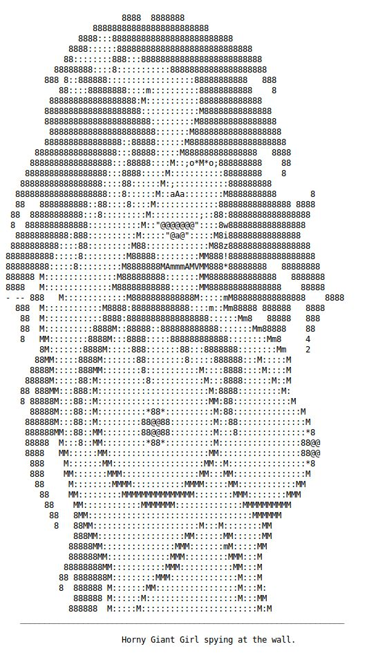 Girl text art