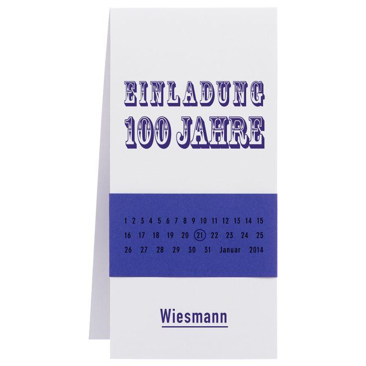 Jubiläumskarten mit farbiger Banderole online bei Top-Kartenlieferant in Aachen bestellen.