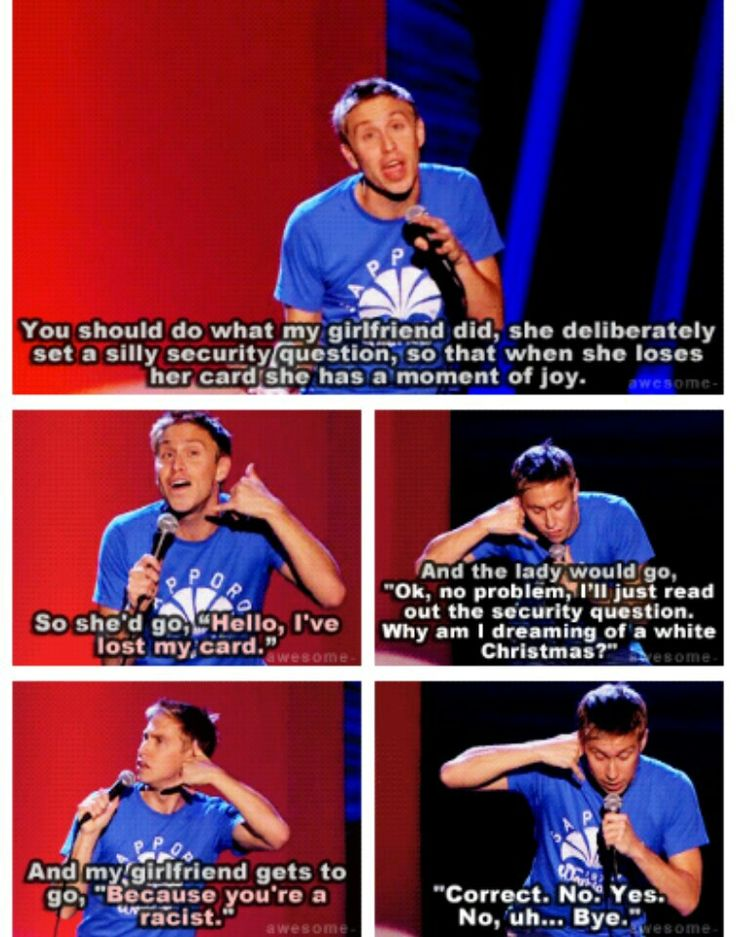 One of my favourite jokes of his! Love this show too right here right now in London