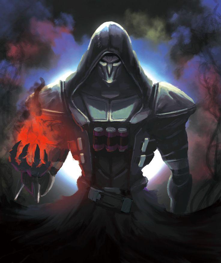 Overwatch Reaper, haya same on ArtStation at https://www.artstation.com/artwork/xZ5RW