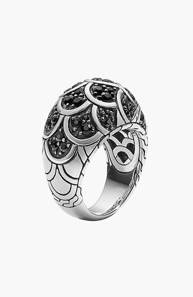 Free shipping and returns on John Hardy 'Naga - Lava' Scale Dome Ring at Nordstrom.com. Polished sterling silver and glittering black sapphire scales detail a versatile dome ring inspired by John Hardy's signature dragon motif.