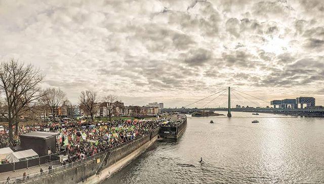 Demonstration Gegen Braunkohle Deutzer Werft Panorama