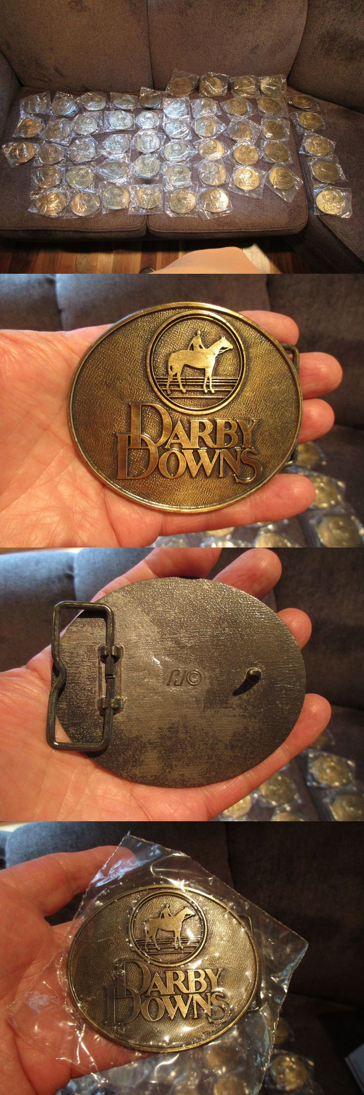 Horse Racing 429: 50 Darby Downs Horse Racing Belt Buckles New In Original Package -> BUY IT NOW ONLY: $85 on eBay!