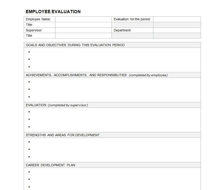Best 25+ Employee evaluation form ideas on Pinterest Self - evaluation template