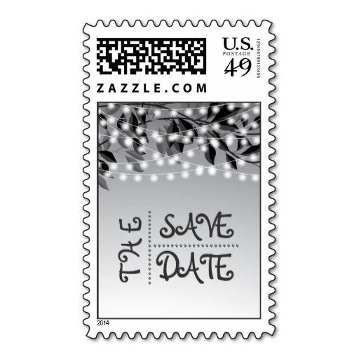 String lights, tree branches wedding Save the Date Stamps.#SavetheDate, #postagestamp, #stamp, #stringoflights
