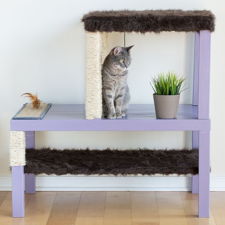 Make a Homemade Cat Condo Using LACK Tables   Read more at http://www.ikeahackers.net/2015/06/make-homemade-cat-condo-using-lack-tables.html#xEXJJUkgmotOoDle.99