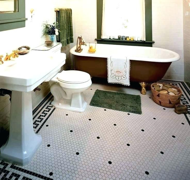 Vintage Style Bathroom Tile Old Fashioned Bathroom Floor Tile Old