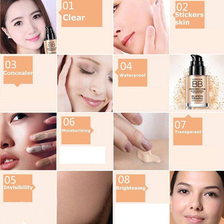 Perfect Cover Oil-control BB Cream Long-Lasting Waterproof Moisturizing Foundation 30ml