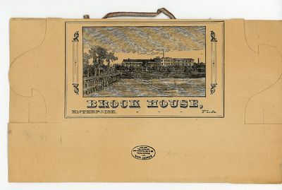 Eclectibles | Folding paper luncheon box or picnic carton promotes Brook House, 1890. Robert Gair | Brooklynite Robert Gair/Gayer was a printer and paper bag maker in the 1870s. He invented the paperboard folding carton by accident: a metal ruler normally used to crease bags shifted in position and cut the bag. Gair found that by cutting and creasing paperboard in one operation, he could make prefabricated cartons. He ultimately got into the corrugated fiberboard shipping container business.