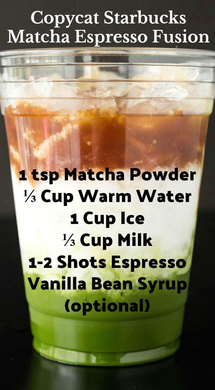 How To Make Starbucks Matcha Espresso Fusion Drink