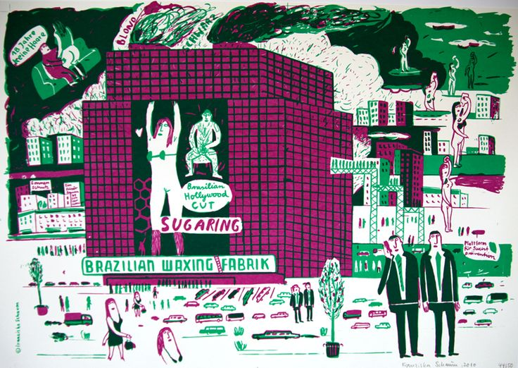 SIEBDRUCK PLAKATE »Brasilian Waxing / Settering« - Franziska Schaum