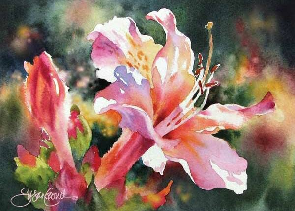 """Awaken""- Susan Crouch #watercolor jd"