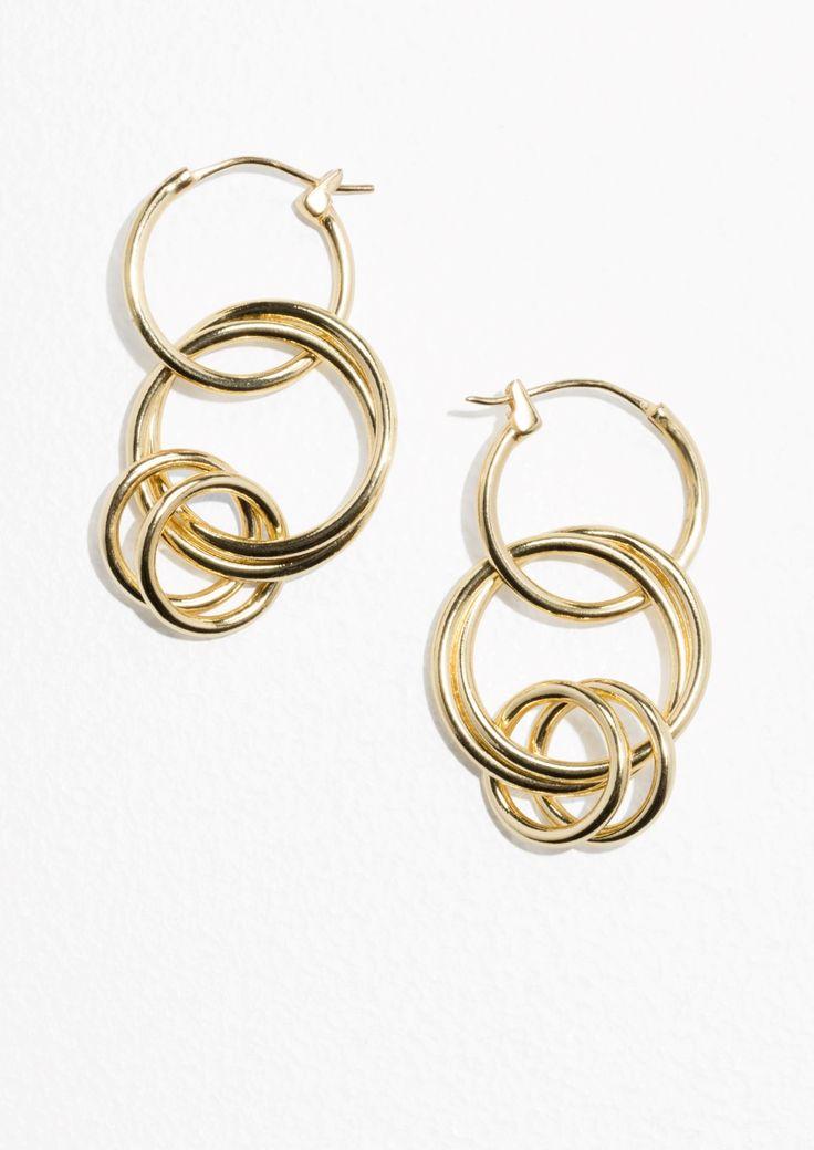 & Other Stories | Multi Hoop Earrings in Gold