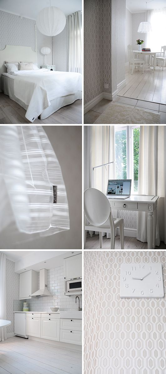 White interior design / Scandinavian style / Mimou hotel
