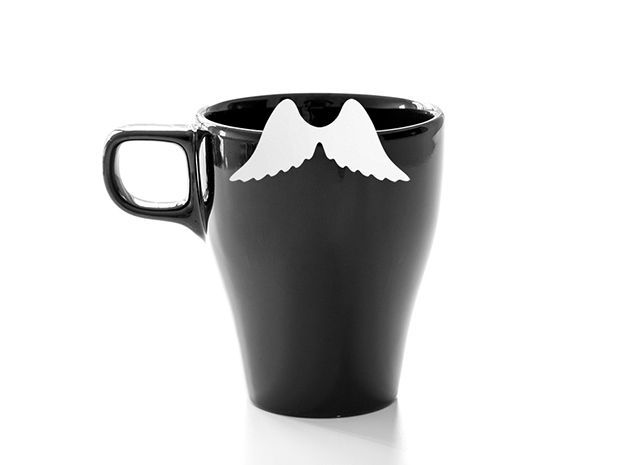 Mug & glass accessories wings 4 3d printed Accessories For Your Home - https://www.shapeways.com/model/2758955/mug-glass-accessories-wings-4.html?materialId=6