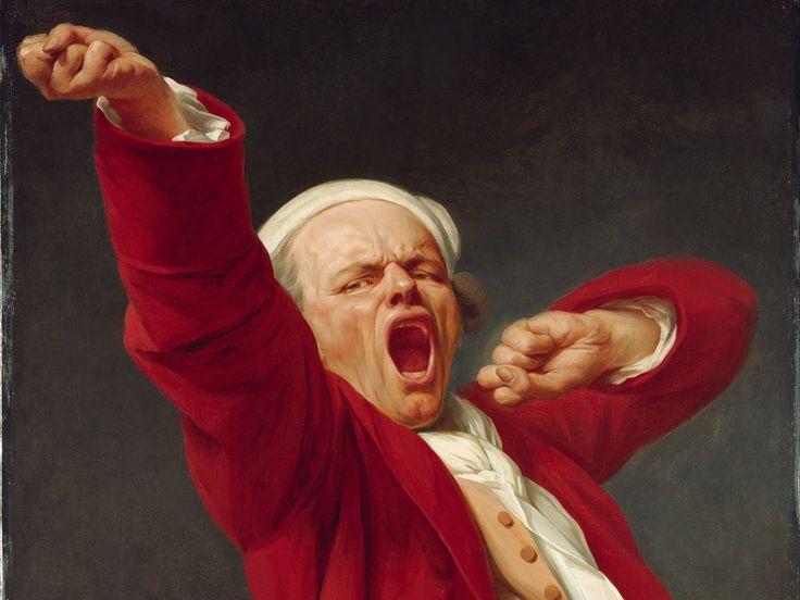 Joseph Ducreux's, 1783 - Self-Portrait, Yawning (detail)