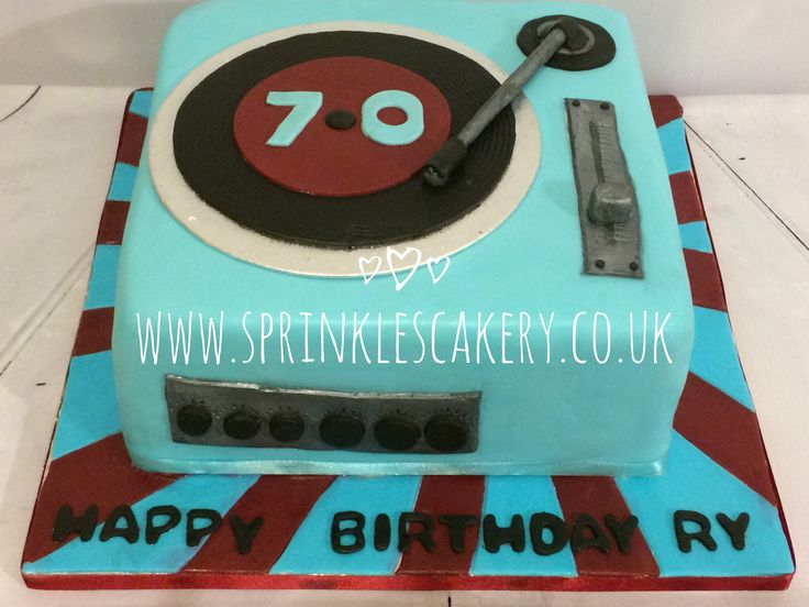 A retro style record player for a West Ham FC fan on his 70th birthday.