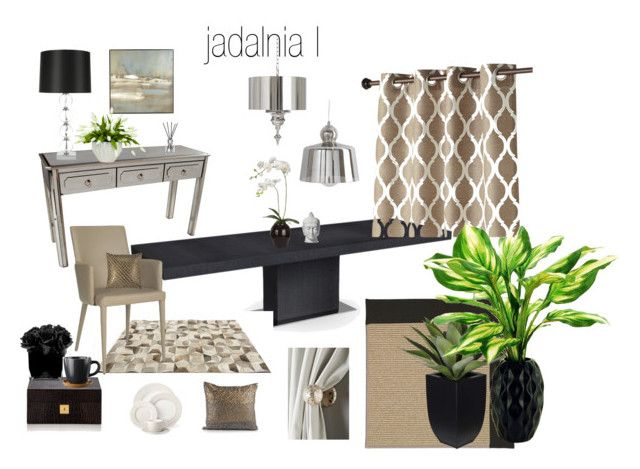 jadalnia by a-filipczak on Polyvore featuring interior, interiors, interior design, home, home decor, interior decorating, Claudette, Safavieh, Linie Design and Capel Rugs