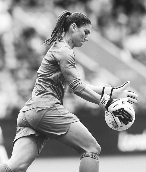Hope Solo- who wouldn't wouldn't want to e like Solo?  Love that Ky is is taking up I MY footsteps!!