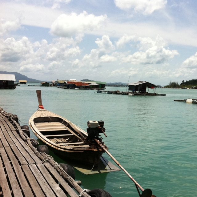 Floating restaurant, Phuket, Thailand