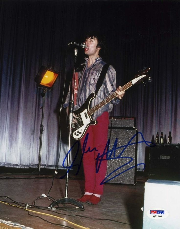 GLEN MATLOCK - Sex Pistols - Hand Signed In-Concert 8x10 - PSA/DNA - UACC #RD289 in Collectibles, Autographs, Music | eBay