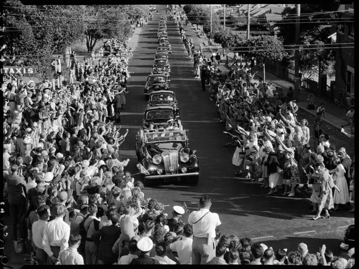 127147PD: Queen Elizabeth II and Prince Philip travel through Claremont during their visit to Perth, 18 March 1954. https://encore.slwa.wa.gov.au/iii/encore/record/C__Rb3513585