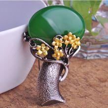 Нефрит горный хрусталь брошь корсаж ювелирные изделия женщин зеленый желтый букет броши сплав свадьба broche грудь безопасный шпильки(China (Mainland))