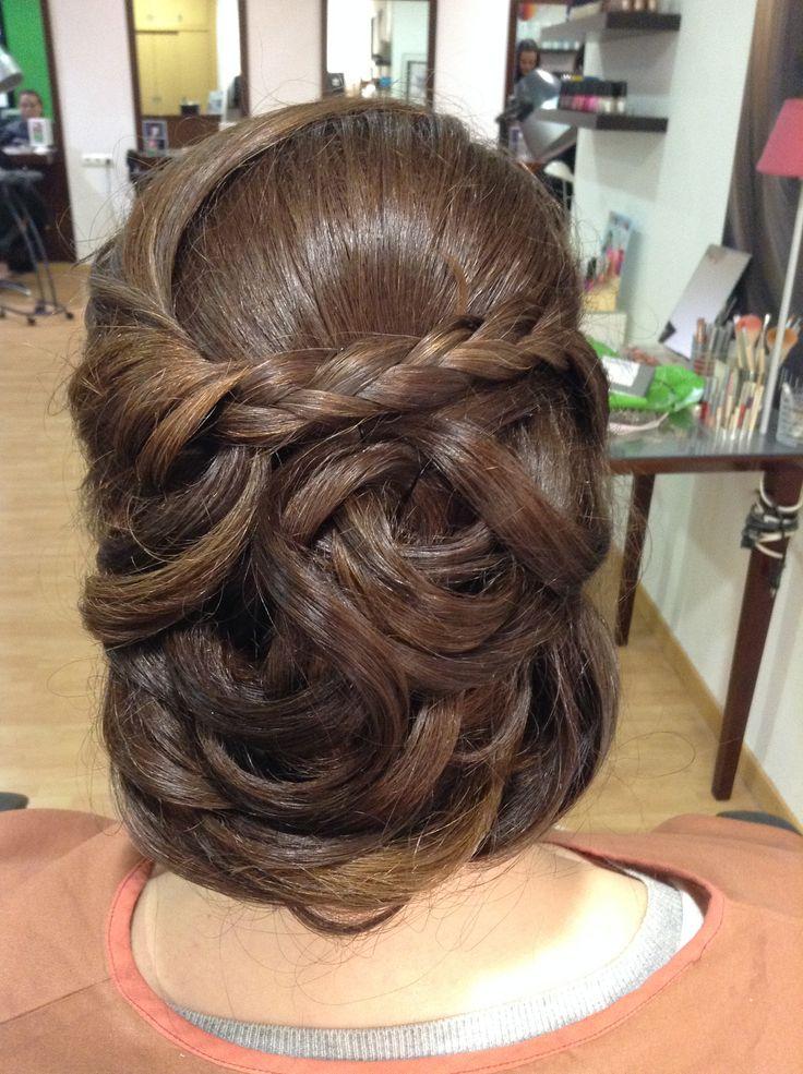 Recogido con trenza para boda peluquer a gregorio porras - Recogido para boda ...
