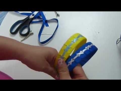 DIY. Como trenzar o tejer Diadema con cinta paso a paso - tutorial vinchas trenzadas - YouTube