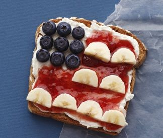 I'm going to use this as a cooking activity during my kindergarten summer camp - American Flag Toast!